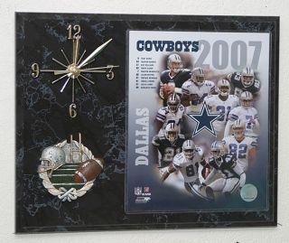 2007 Dallas Cowboys Team Picture Clock