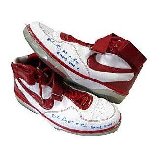 2007 Game Used Portland Trail Blazers Red / White Shoes   NBA Sneakers