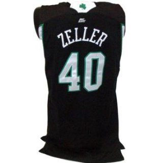LUKE ZELLER #40 2008 09 Game Used Black Jersey uns (46