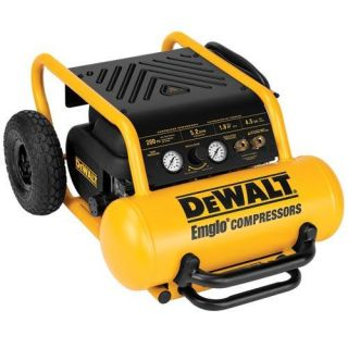 DeWALT D55146 Heavy Duty 200 PSI 4.5 Gallon Electric Wheeled Portable