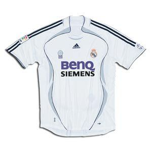 Real Madrid 2007 Home SS Soccer Jersey Clothing