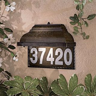 Minka 8000 407 PL Home Number Plate , Prussian Gold
