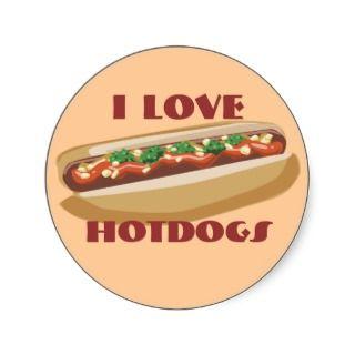 Hot Dog Stickers