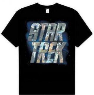 Star Trek XI 2009 Movie Character Logo black t shirt
