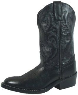 Denver Black Leather Western Boot 12 M Little Kids Shoes