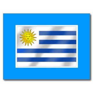 Soy Celeste Uruguay flag Futbol soccer ball logo Post Card