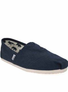 Toms Shoes Mens Espadrilles Navy Canvas Shoes 9 Shoes
