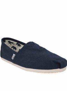Toms Shoes Mens Espadrilles Navy Canvas Shoes 9 Shoes