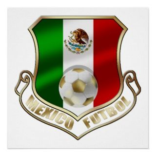 Mexico 2014 Mexican flag World Cup Soccer futbol Posters