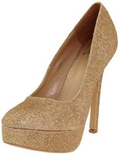 Miss Me Womens Vibe 2 Platform Pump,Gold,6.5 M US Shoes