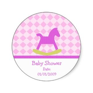 Baby Shower Rocking Horse Stickers sticker