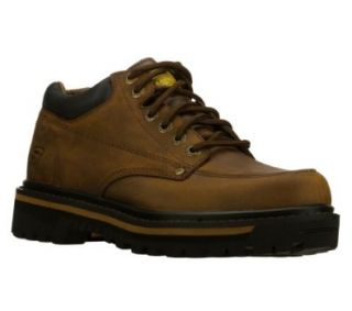 Skechers Mariners Mens Ankle Boots Wide Width Dark Brown 13 W Shoes