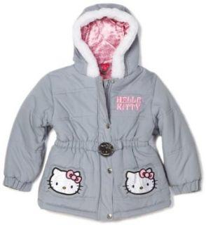 Kids Headquarters Girls 4 6x Hello Kitty Outerwear, Silver