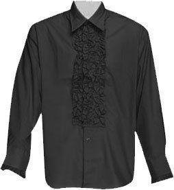 Mens Black Tuxedo XL Shirt Theater Costume Clothing
