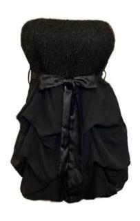 Plus Size Fringe Bubble Dress Black   3X Clothing
