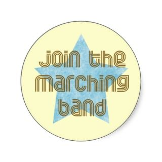 Join the Marching Band Round Sticker