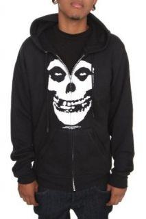 Misfits Fiend Skull Zip Hoodie: Clothing