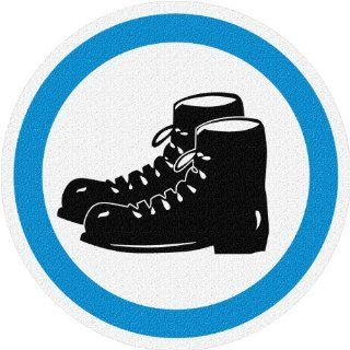 FloorSignage Warehouse Safety Signage Sign, Steel Toe Shoes Required