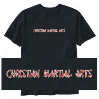 T SHIRT BLACK  ORIENTAL STYLE CHRISTIAN MARTIAL ARTS