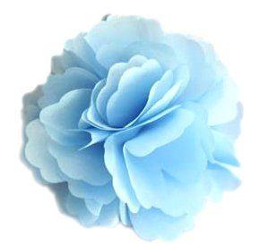 A Girl Company Light Blue Satin Flower Hair Clip/Brooch