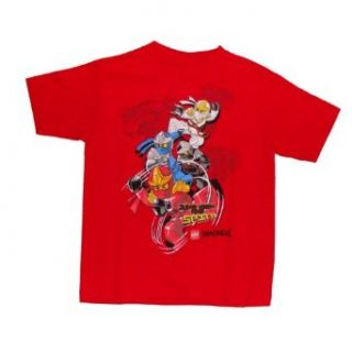 Lego Ninjago 4 Ninjas Battle Ready Boys T shirt (M (5/6