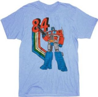 Transformers 84 Optimus Prime Light Blue T shirt Tee