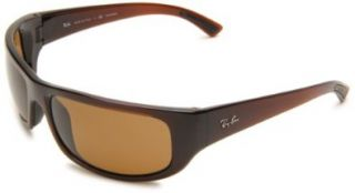 Sunglasses,Dark Shiny Brown Frame/Brown Lens,64 mm Ray Ban Shoes