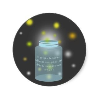 sticker featuring an illustration of a jar with matthew 5 16 bible