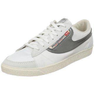 com Diesel Mens Eagle Lace Up Fashion Sneaker,White,8.5 M US Shoes