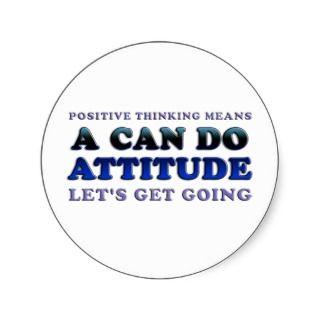 Positive Attitude Stickers, Positive Attitude Sticker Designs