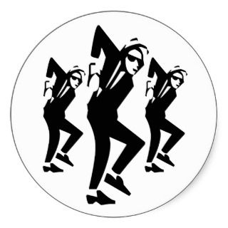Ska Rude Boy Dancing (pack of 6/20) Sticker