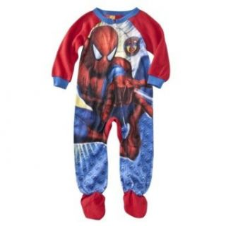 Spider Man Toddler Boys Footed Sleeper Pajama (3T