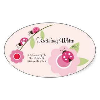 Ladybug Wine Label Sticker