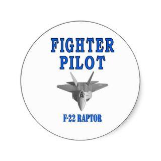 22 RAPTOR FIGHTER PILOT BUMPER STICKER