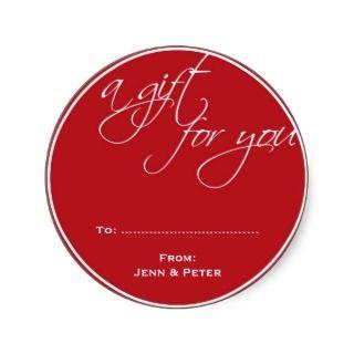 white script custom Christmas holiday gift tag Sticker
