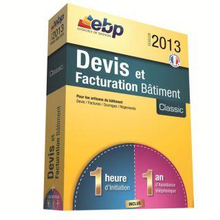 LOGICIEL BUREAUTIQUE EBP Devis et Factu. Bâtiment Classic 2013 + VIP