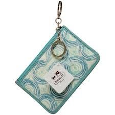 NEW AUTHENTIC COACH AUDREY SWIRL MINI SKINNY KEY RING COIN