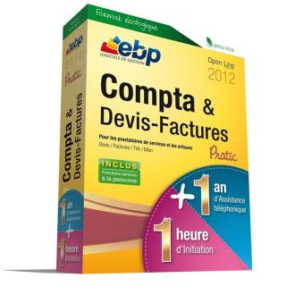 LOGICIEL BUREAUTIQUE EBP Compta & Devis Factures Pratic 2012 + VIP