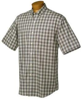 Cutter & Buck Mens Short Sleeve Resort Tartan Shirt, Navy