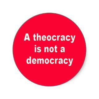 Theocracy Sticker