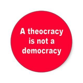 Theocracy Sticker
