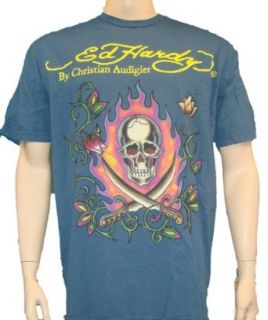 Ed Hardy Mens Big & Tall Shirt 2 Swords Size 4X 4XL