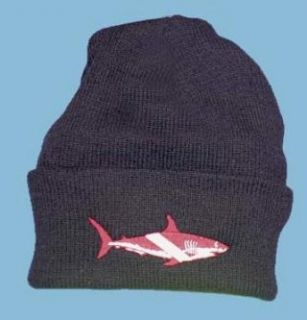 New Megalodon Great White Shark Dive Flag Beanie: Sports
