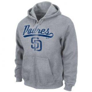 MLB San Diego Padres Long Sleeve Full Zip Hooded Fleece