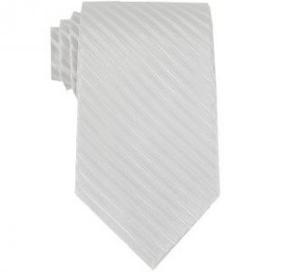 Bruno Piattelli Mens White Formal Stripe Silk Neck Tie