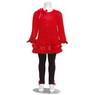 Rare Editions Little Girls 4 Red Christmas Sweater