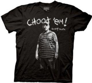 Swamp People Troy Landry Choot Em Black Adult T shirt