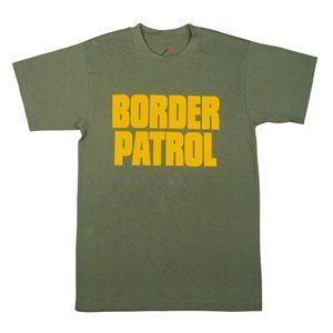 60468 Olive Drab Double sided Border Patrol T Shirt