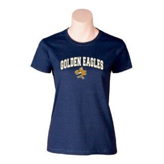 Oral Roberts Ladies Navy T Shirt, X Large, Golden Eagles w