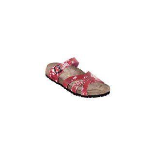 Birko Flor in Kimono Red with a narrow insole size 36.0 N EU Shoes